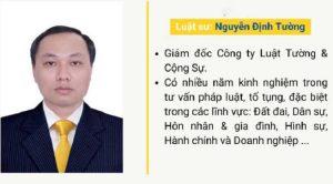 Luật sư Nguyễn Định Tường